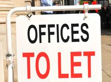 Offices to let. Sign on the street Royalty Free Stock Image