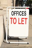 Offices to let. Street sign Royalty Free Stock Images