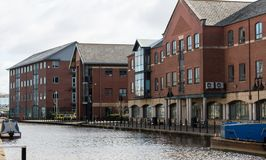 The Offices in Wigan. The modern office block in the heart of Wigan alongside the canal Royalty Free Stock Photos