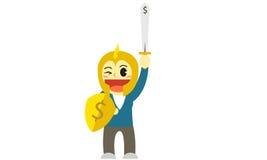 Officewomen cartoon gladiator Royalty Free Stock Image