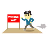 Officewomen cartoon and stop sign 4 Stock Photography