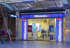 Officeworks store at Sydney Central Business District Royalty Free Stock Images
