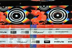Officiële banner van Internationaal de Filmfestival van 41ste Moskou royalty-vrije stock fotografie