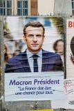 Officiële campagneaffiches van Emmanuel Macron Stock Foto