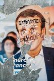 Officiële campagneaffiches van Emmanuel Macron, politieke partij le Stock Fotografie
