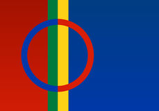 Officiële de vlagvector van Lapland Royalty-vrije Stock Fotografie