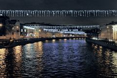Officiële feestdag in Noordelijke stad Heilige Petersburg stock foto