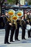 Officiële het marcheren van de Marine band Stock Fotografie