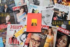 Officiële publicatie van het de Filmfestival van Cannes royalty-vrije stock foto