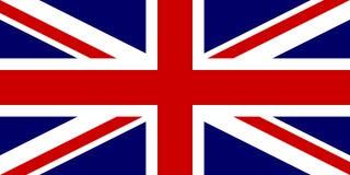 Officiële vlag van Verenigd Koninkrijk van Groot-Brittannië en Noord-Ierland Britse vlagaka Union Jack Vector illustratie Royalty-vrije Stock Afbeelding