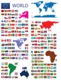 Officiële Vlaggen van de wereld Stock Foto's