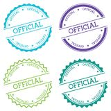 Official badge isolated on white background. Royalty Free Stock Image