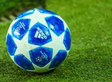 Official ball UEFA Champions League stock photography