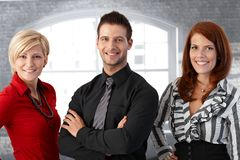 Official business team portrait. Confident happy businesspeople smiling at camera Royalty Free Stock Photos