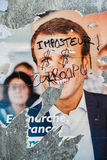 Official campaign posters of Emmanuel Macron, political party le Stock Photography