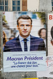 Official campaign posters of Emmanuel Macron Stock Photo