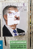 Official campaign posters of Jean Lassalle political party leade Royalty Free Stock Photography