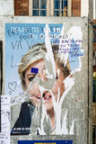 Official campaign posters of Marine Le Pen. STRASBOURG, FRANCE - APR 23, 2017: Official campaign posters of Marine Le Pen, political party leader of Front Royalty Free Stock Photos