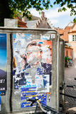 Official campaign posters of Marine Le Pen. STRASBOURG, FRANCE - APR 23, 2017: Official campaign posters of Marine Le Pen, political party leader of Front Stock Images