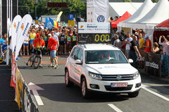Official Car of the Bucharest City Maraton Stock Image
