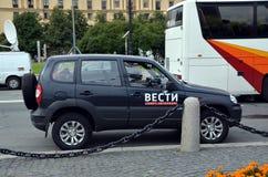 Official car of TV programme Vesti (VGTRK) Stock Photos
