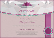 Official certificate.Triangle light background. Royalty Free Stock Images