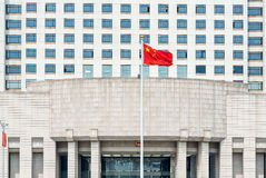 Official chinese military government building on people square s Stock Photography