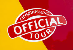 Official City Sightseeing Tour Royalty Free Stock Photo