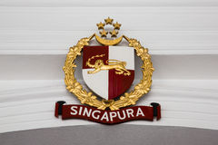 Official coat of arms of the President of Singapore Stock Images