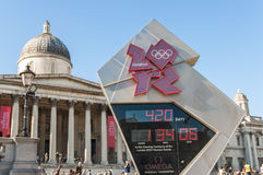 Official countdown clock for the Olympic and P Stock Photos