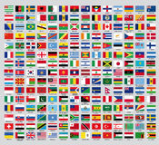 Official country flags. An update of the flags of the countries of the new world Royalty Free Stock Images