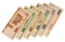 Official currency of Belorussia Stock Photo