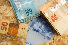 Official currency of Brazil Royalty Free Stock Photo