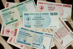 Official currency of Zimbabwe 2 Royalty Free Stock Photo