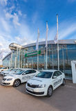 Official dealer Skoda in Samara, Russia Stock Photography