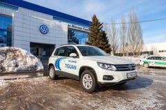 Official dealer Volkswagen in Samara, Russia Royalty Free Stock Photos