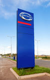 Official dealership sign of Datsun. Datsun is an automobile bran Stock Images