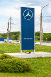 Official dealership sign of Mercedes-Benz Royalty Free Stock Photos