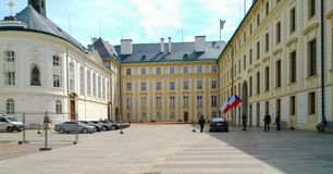 Official Diplomatic Meeting at Prague Castle in Prague royalty free stock photography