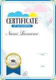 Official education certificate and emblem Royalty Free Stock Images