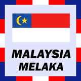 Official ensigns, flag Malaysia - Melaka Royalty Free Stock Photo