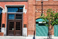 Entranceway to Fenway Park, Boston, MA. The official entrance historic Fenway Park, Boston, MA Stock Image