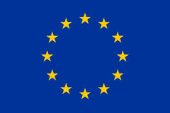 Official EU flag.  Royalty Free Stock Photo