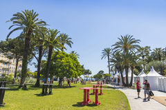 Official fanzone of UEFA EURO 2016 in City of Nice Stock Photography