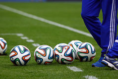 Official FIFA 2014 World Cup balls (Brazuca) Royalty Free Stock Image