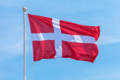 The official flag of Denmark Stock Image