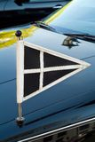 Official flag on a Dutch funeral car Stock Photography