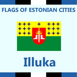 Official Flag of Estonian city Illuka royalty free stock image
