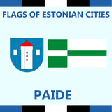 Official Flag of Estonian city Paide Royalty Free Stock Photos
