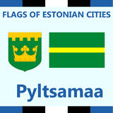 Official Flag of Estonian city Pyltsamaa Royalty Free Stock Photography